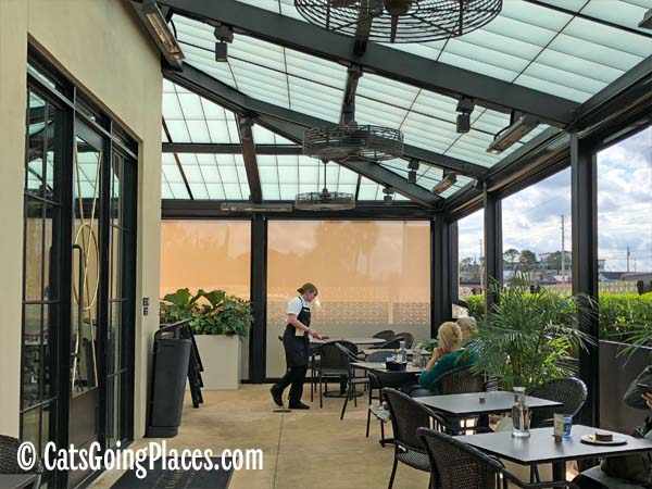 The Glass Knife patio interior