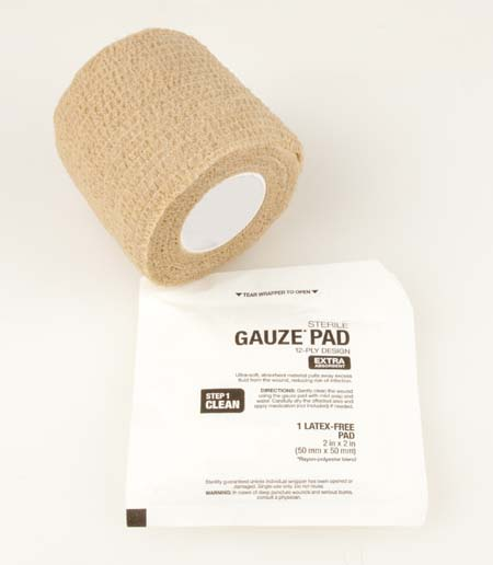 gauze pads and bandage