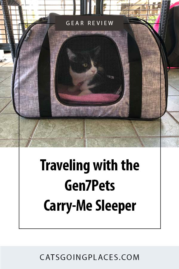 Traveling with the Gen7Pets Carry-Me Sleeper Carrier - It's the Murphy Bed of cat carriers! #cat #travel #carrier #review #sponsored