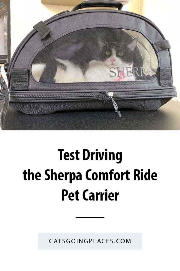 Test Driving the Sherpa Comfort Ride Pet Carrier - A review of the handy comfort ride pet carrier from Sherpa. #cat #travel #carrier #review