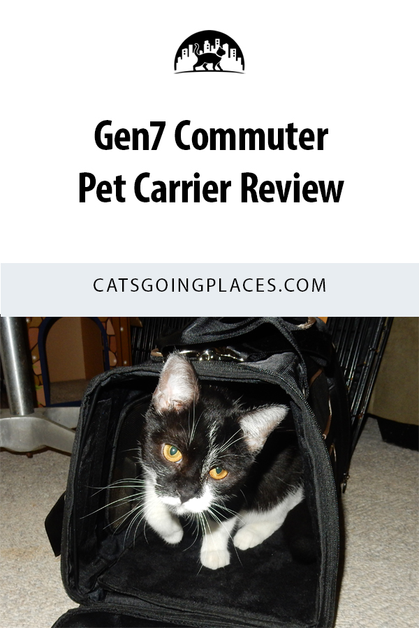 A review of the airline-friendly, crash-tested Gen7 Commuter pet carrier. #CatTravel #PetTravel #PetCarrier #CatCarrier