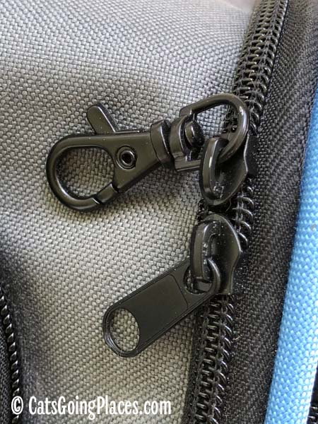 zipper pulls on jackson galaxy extendable pet carrier
